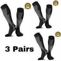 Calcetines para hombres 1/2/3/4/5/6/7 Pares de compresión Fit Vena Varices Medias de fútbol de fútbol 30mm Hombres Mujeres para correr Ciclismo Sock