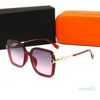 2021 Sombras Moda Lujo Sunglases Diseñador Gafas de sol para hombres Hombre Retro Gafas de sol o Mujer UV 400 Lente Caja original