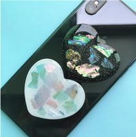 20 Pieces Heart Shell Phone Table Holder Grip Stretchable Round Cellphone Stand Mount Bracket For iPhone X 8 7 11 12 Pro Redmi Samsung