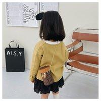 designer girls handbags Autumn winter leopard print mini purse for kids children small cylinder accessories change wallet lipstick small bag F772