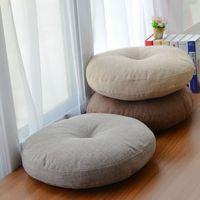 Круглая форма 2 размер хлопчатобумажные льняные сиденья подушки шелкового хлопкового сердечника татами подушка подушки подушки дома украшения мягкий автомобиль диван подушка SH190925