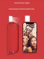 Selfie Light 휴대용 휴대폰 케이스 플래시 LED 셀프 링 필 라이트 뒷면 아이폰 12 프로 미니 스마트 폰 케이스