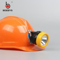 BOZZYS LED 1W 2200MAH LED Miner Safety Cap Lampenscheinwerfer Licht Miner-Lampe mit Ladegerät BK3000