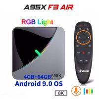 A95X F3 AIR 8K Android 9.0 TV 박스 Amlogic S905X3 4G 32G 64G RGB 라이트 미디어 플레이어 H96 Max
