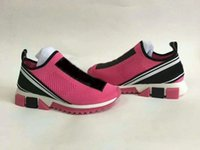 2021 Moda Designer Womens Sneakers Casual Malha Sapato Rosa Mulheres Rose Socks Sapatos Botas 35-42