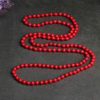 Joyería hecha a mano al por mayor turquesa suéter largo cadena de cadena de cadena collar de cadena joyería de mujer