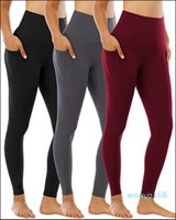 Women yoga pants with pockets High Waist Sports Gym Wear Leggings Elastic Fitness Lady Overall Full Tights 8589