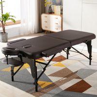 침실 가구 접는 휴대용 침술 스파 테이블 조정 가능한 뷰티 살롱 얼굴 reiki 나무 다리와 마사지를위한 침대