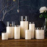 Dia 8cm Vidrio con velas de vidrio Jarrones de cilindro para vela de pilar, soportes de velas flotantes o centros de bodas de jarrón de flores