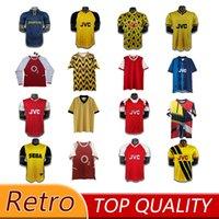 86 2014 2000 93 Arsen Ian Wright Tony Adams Cole Retro Soccer Jersey 90 92Rocastle Dixon Campbell Merson New Style Camicia da calcio