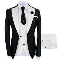 Men's Suits & Blazers Suit Vest Pants 3 Pcs Set   Fashion Casual Boutique Business Irregular Waistcoat Jacket Coat Trousers