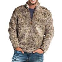 Sweat-shirt Hommes Stand Collier Polaire Pull de fermeture à glissière Vêtements d'extérieur Hiver Hiver Chaud Soufflement à Manches longues Peluche Sweatshirts Peluche # 2