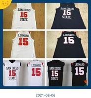 NCAA College-Männer Basketball 15 Kawhi Leonard Jersey San Diego State Jerseys University für Sportfans Ausgezeichnete Qualität
