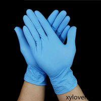 使い捨てラテックスニトリルグローブブラックブルーホワイトピンクPVCグローブビューティーヘア染料ゴムラテックスキッチンツール実験タトゥークリーニング手袋