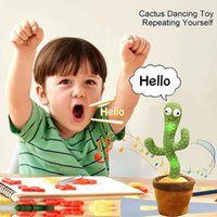 Dancing Cactus 120 Song Speaker Talking Voice Repeat Plush Cactu Dancer Toy Talk Plushie Stuffed Toys For Baby Girl
