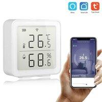 أنظمة الإنذار Tuya Wifi درجة الحرارة والرطوبة كاشف الذكية الاستشعار يعمل مع تطبيق الحياة