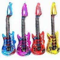 Klasik Müzik Karikatür Gitar Balon Şişme Hava Ballon Doğum Günü Müzik Parti Dekorasyon Müzik Aletleri Balon 543 S2