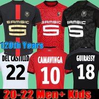 20 21 Stade Rennais Soccer Jerseys 120th Anniversary Men + Kids Guirassy Terrier 2021 Mailleots Rennes Niang del Castillo Da Silva Camavinga Shirts