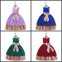 Alta calidad 2019 Big Bow Dresses para niños para niñas Ropa para niños vestido de noche vestido princesa vestido elegante fiesta 10 12 años 196 y2