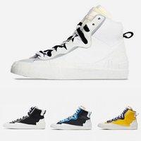 Sıcak Satış Beyaz Gri Blazer Orta Erkek Koşu Ayakkabıları Yüksek Kesim Siyah Gri Camo Beyaz Kırmızı Siyah Üniversitesi Mavi Erkekler Spor Sneakers