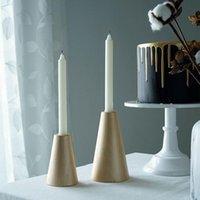 Desktop Decor Nordic Mão Simples Castiçal Ornamento Sala de Living Tabletop Casting Candle Handne Home Decoração Acessórios