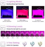 COB Cree plomb Soulignes pour plantes intérieures Lampes de croissance de la taille de spectre avec minuterie Dual Head 40W Succulent Clip Growlight 3 Modes de commutation 9 Dimmable luminosité