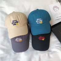 Şapka Kız Yaz Yeni Kore Versiyonu Beyaz Sis Haz Sen Mavi Kap Çok Yönlü Mektup Bükülmüş Ağız Beyzbol Şapkası Güneş Şapka Moda