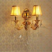 Liga Vela Cristal Quente Branco Lâmpada de Parede Quarto Bedside Room Corredor Hotel Casa SCONCE LED Lâmpada 220V LED