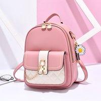 Backpack backpack women's 2020 new fashion Korean PU leather leisure travel bagJK7S