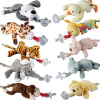 10 стилей новых силиконовых животных соска с плюшевой игрушкой Baby Giraffe слон соска для детей Newborn Modyler детские продукты включают Pacifiers 76 y2