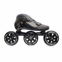 Inline & Roller Skates 3 Wheels Adults Carbon Fiber Speed Marathon Street Road Long Distance Race 100mm 110mm 125mm