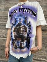 7TT National Trend Ultraman Print Lose Short T-Shirt Herren Hip Hop Crew Hals Vielseitige Halbhülsenliebhaber T-Stück