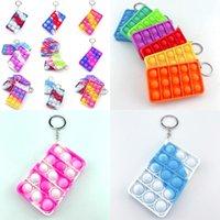 Pop Mental Arytmetyczna Puzzle Party Favor Silicone Tie Dye Keychain Fidget Sensory Dorosłych Dzieci Zabawki Zabawne Stresowy Zabawki Zabawki 2890 Q2