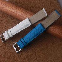 Watch Bands 14mm 16mm 18mm 20mm High Quality Genuine Leather Strap Fashion Blue Accessories Watchband For Lady Mens Wrist Band