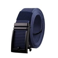 Belts Mens Metal Slide Buckle Cut Out Nylon Quick Drying Release Cowboy Jeans Accessories 3.4cm Outdoor Waist Strap