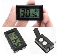 أسود / أبيض صغير الرقمية LCD بيئة ميزان الحرارة الرطوبة الرطوبة درجة الحرارة متر في الغرفة ثلاجة البحر الشحن EWE4800