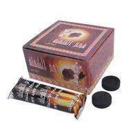 100 pçs / pack de narguilha shisha carvão carvão rápido smilless coco sem fumaça premium hookah shisha incenso carvão carvão c0312