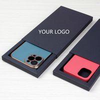 Персонализированный пользовательский логотип универсальный размер розничной упаковки Карфть бумаги Упаковочная коробка ящика для iPhone XS 12 13 PRO MAX CASIO CASE AS306