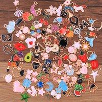 Wholesale 30Pcs Random 20-100 Styles Mix Size 5 Color Alloy Metal KC Gold Drop Oil Charms Pendant For DIY Bracelet Necklace Jewe