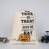 Dhl هالوين الحلوى حقيبة هدية كيس علاج أو خدعة اليقطين المطبوعة قماش أكياس هالوين عيد الميلاد حزب مهرجان الرباط حقيبة DWF8510