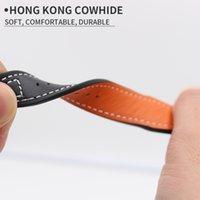 Costume de bracelet en cuir véritable de 20mm de 20mm de véritable costume de montre pour IWC Pilot Mark XVIIII IW327004 / 377714 Accessoires de bracelet de ceinture