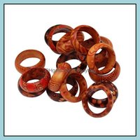 Jewelrymix Lots Wholesale Natural Wood Rings Fashion Women Charm Band Ring Jewelry Unisex High Quality Drop Delivery 2021 Woncb