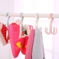 Сумка мешок держатель пространства Сохранение вешалки вешалка для одежды 360 градусов вращение четыре когти ремень шарф висит вешалка VTKY2355