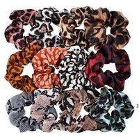Girls Grampos de Cabelo Acessórios Padrão de Leopardo Headband Headband Flor Snake Padrão Elastic Band Grande Intestino Anel Headdress FWB5490