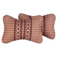 ToneThiny Seat Cuscini 1 Paia Collo Auto Neck Puscolo Protezione Sicurezza Poggiatesta Supporto Ice Silk Cuscino Sedili Accessori 28 x 17 cm (beige, stile