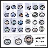 Navio rápido de Epack! 28 estilos selecionáveis 3d faux mink cílios 3d proteína de seda cílios 100% Cruelty free olho cílios