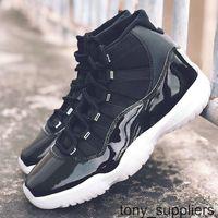 2020 jumpman 11 الحادي عشر الذكرى 25th مع ألياف الكربون الحقيقي 11S أحذية رجالي كرة السلة أعلى جودة أسود متعدد الرياضات الرياضة أحذية رياضية