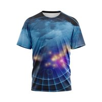 Fashion t shirts man 3 d printing in the summer of 2021 men's clothing breathable Streetwear splicing with short sleeves