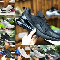 Nike Air Max 270 shoes New airmax Vapormax 270 27c Bred Platinum Tint Femmes Chaussures de Jogging pour femmes Bones lumineuses Chaud Punch Chaud Noir Total Orange
