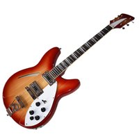 Factory Outlet-6 Strings Cherry Red Semi-hollow Electric Guitar with Two Outputs,Rosewood Fingerboard